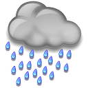Moderate or heavy rain shower